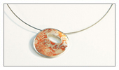Pieces made by students - Mariana - Mokume Gane Pendant