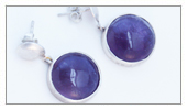 Pieces made by students - Monica - Crimp rings with amethyst