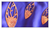 Pieces made by students - Yamila - Set of Earrings and Pendant in copper