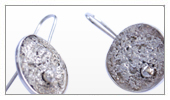 925 Silver texturized earrings – Texturized earring Collection.