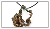 ELECTROFORMING - Patinated pendant