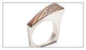 925 Silver Ring with Copper