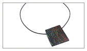 Wood and Japanese Lacquer Collection - Wood pendant ebony and Japanese lacquer